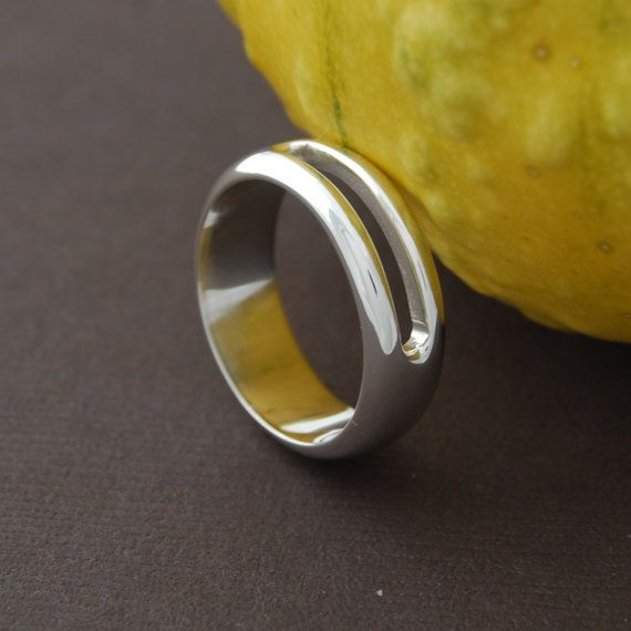 Simple open band - sterling silver cast band
