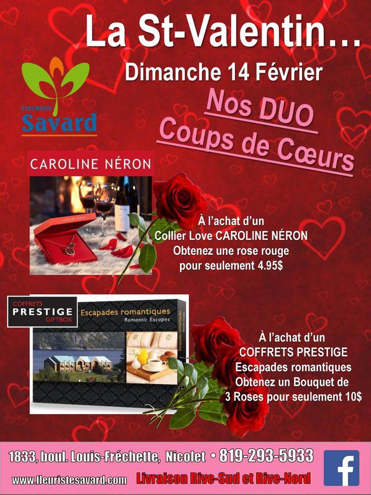Il vous reste encore du temps avant la #stvalentin, de belles idées de cadeaux chez #fleuriste Savard!