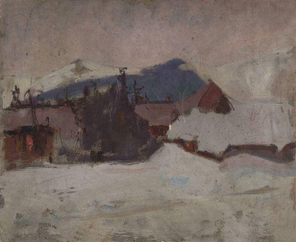 Pejzaż zimowy - Tadeusz Makowski