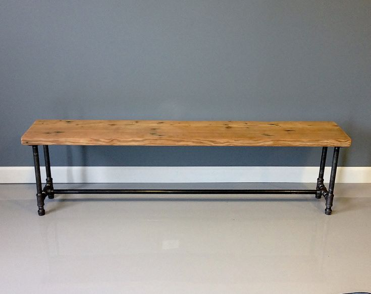 "60""L Reclaimed Wood Bench Industrial Pipe Leg- Free Shipping & Lifetime Warranty. $300.00, via Etsy."