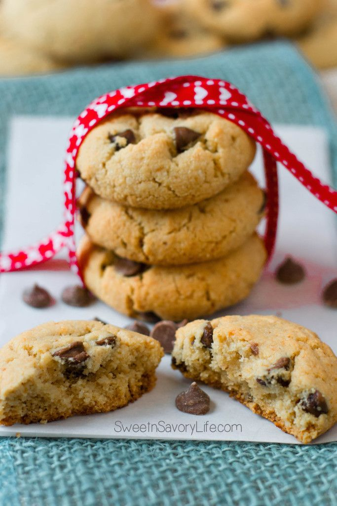 vegan and paleo chocolate chip cookies by SweetnSavoryLife.com