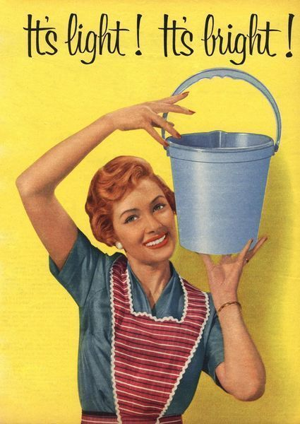 1950s British advertisement for the housewive's bucket