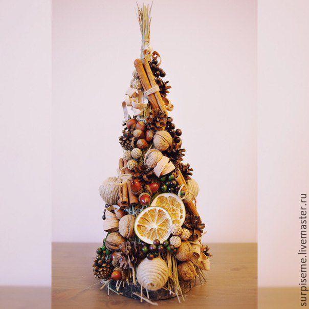 Купить Новогодняя елка в эко стиле - коричневый, елка, елка новогодняя, елка ручной работы