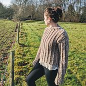 This crochet pattern is a simple, classic design for a mock-turtle neck, pullover sweater. It features faux-knit ribbing down the front and back panels, and the sleeves. The sweater, though it looks simple, takes a few 'normal' crochet practices, and tweaks them slightly for this all original look –an uber-cozy, chic sweater that can work on both men and women.
