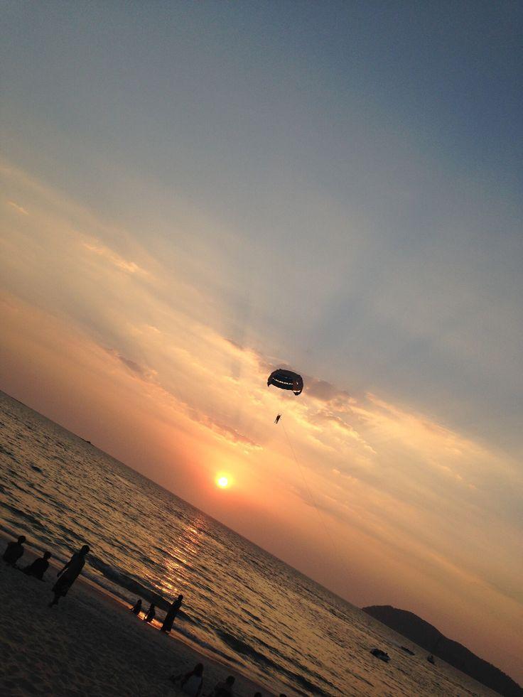 The beautiful sunset at Langkawi. #Sunset #Vacation #Langkawi