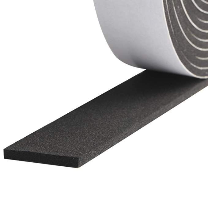 Foam Strips With Adhesive High Density Soundproofing Window Insulation Foam Gasket Tape Weather Strip 1 Inch Foam Insulation Sound Proofing Window Insulation