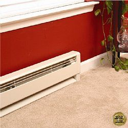 "Qmark HBB754 Electric Hydronic Baseboard Heaters: 34""L 240 v - 750w FREE SHIPPING"