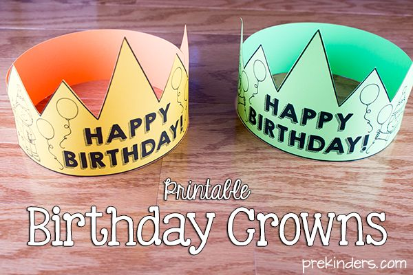 Free printable birthday crowns and certificates for your students, and a printable birthday chart that you can create on poster board or hang on a banner.