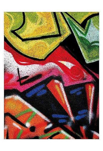 Colorful Graffiti (detail, Art Print by Jenny Kraft