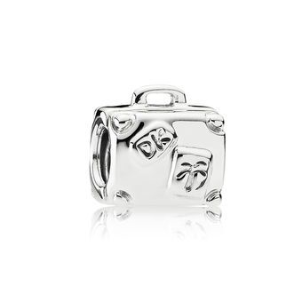 Suitcase Silver Travel Charm - PANDORA