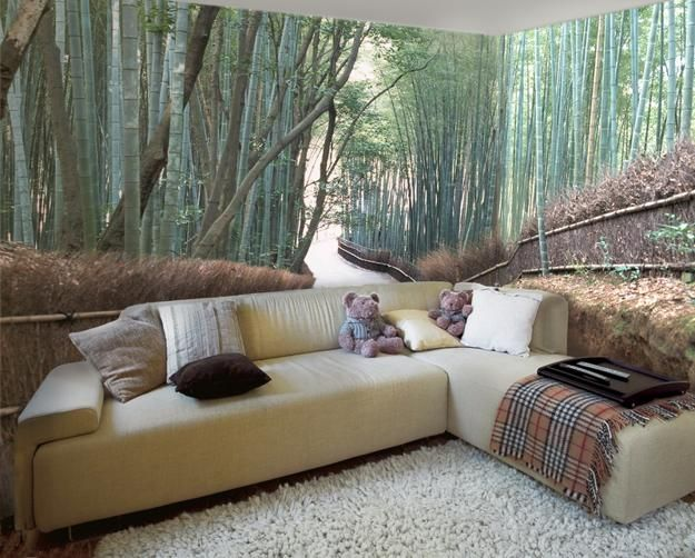 modern interior design trends in photo wallpaper prints and wall murals - Wallpaper Design For Walls