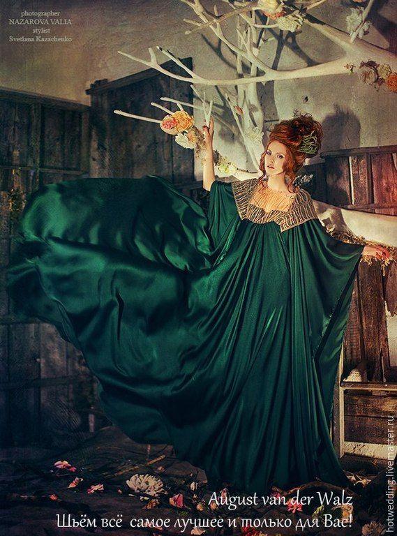 """""""Богини Эллады"""" Вечернее платье - свадебное платье, платье невесты, белое платье, handmade"""