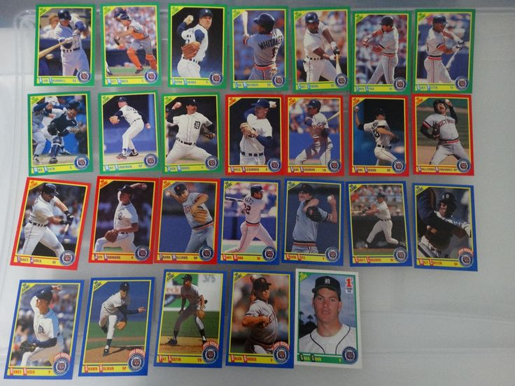 1990 Score Detroit Tigers Team Set of 26 Baseball Cards #DetroitTigers