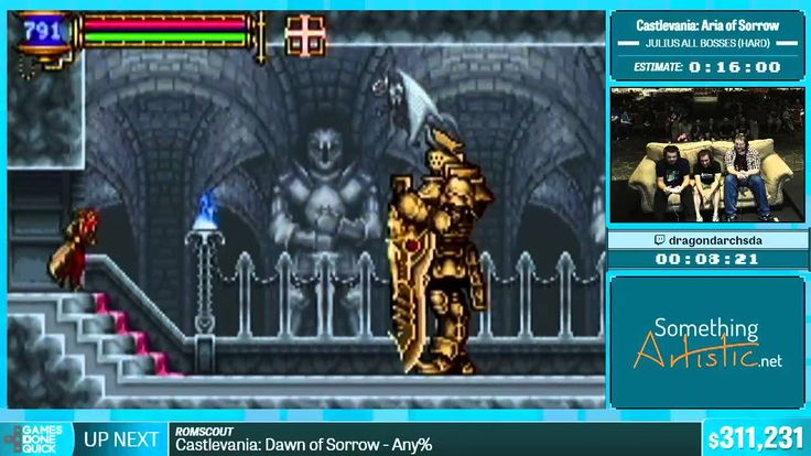 Castlevania: Aria of Sorrow by Dragondarch in 15:46 - Summer Games Done Quick 2015 - Part 57 - Video --> http://www.comics2film.com/castlevania-aria-of-sorrow-by-dragondarch-in-1546-summer-games-done-quick-2015-part-57/  #GamesDoneQuick