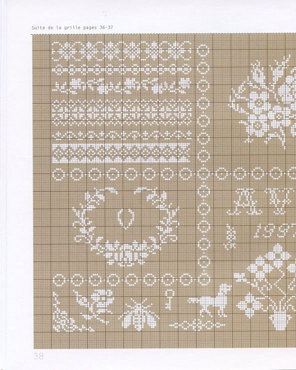 Gallery.ru / Foto # 39 - pizzo ricamato - Irisha-ira lace, white cross stitch 1