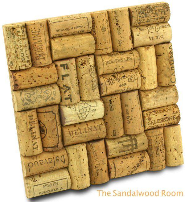 thesandalwoodroom (@sandalwoodroom) | Twitter A Trivet made with wine bottle corks.