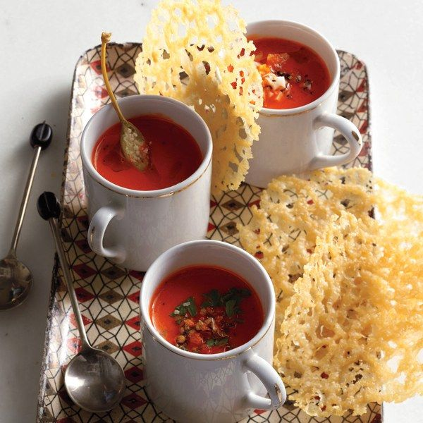 Roasted Red Pepper Soup Shots