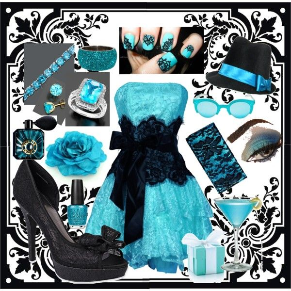5. Color scheme  #modcloth #wedding  We're using several shades of aqua/turquoise/teal and black.