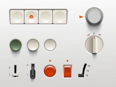 Dribbble - Braun UI (.psd) by Adrien Olczak