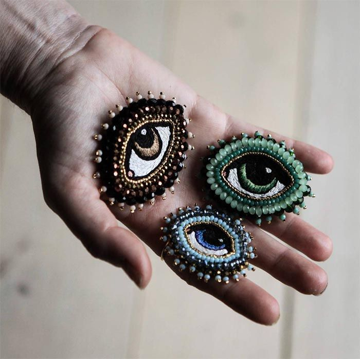 Embroidered Jewelry by Céleste Mogador (Design*Sponge)