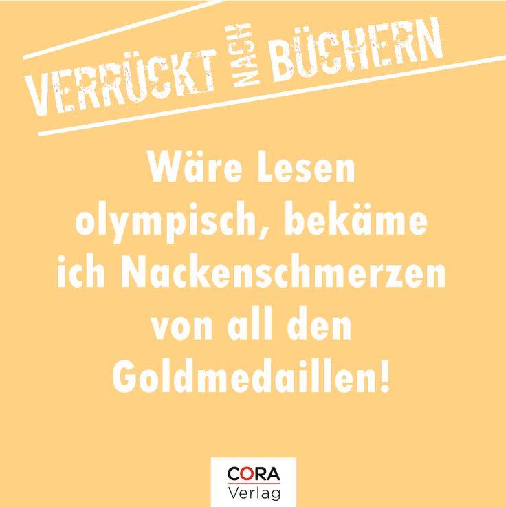 Jetzt kommen wir auf die Zielgerade... sie liegt vorne... das müsste fürs Treppchen reichen... oder wird es sogar Gold?! Sie liest,liest,liest.... ja!... GOLD! GOLD! Es ist GOLD!!! #buch #olympiade