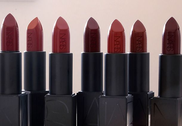 The NARS Audacious Lipsticks in Olivia, Charlotte, Bette and Ingrid