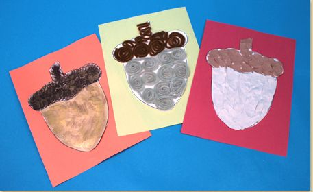Download our FREE acorn printable then decorate with craft materials of choice!