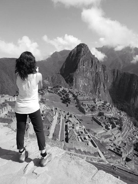 Machu Picchu, black and white~