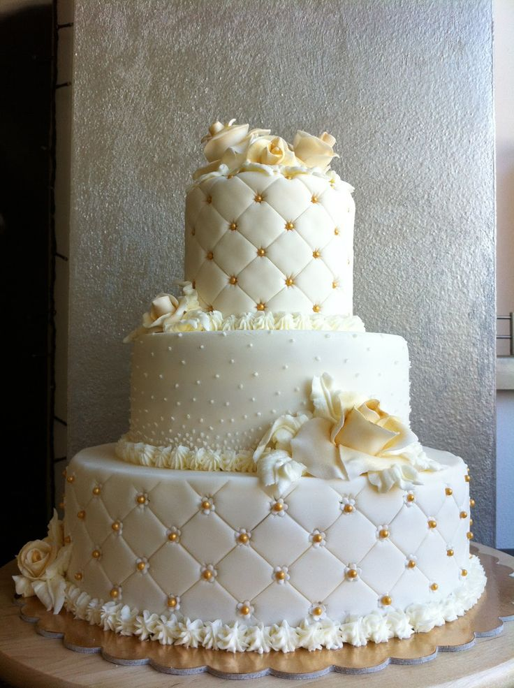 Gold And White Wedding Cake Designs Birthday Cake Designs