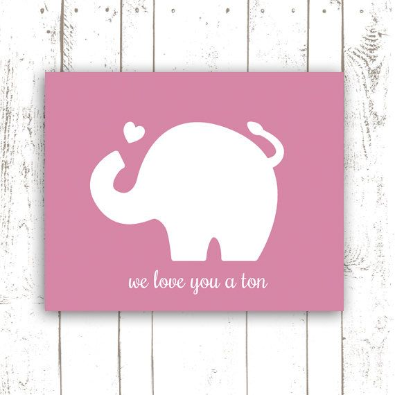 Elephant Print Nursery Art with Quote We by MooseberryPrintShop, $18.00