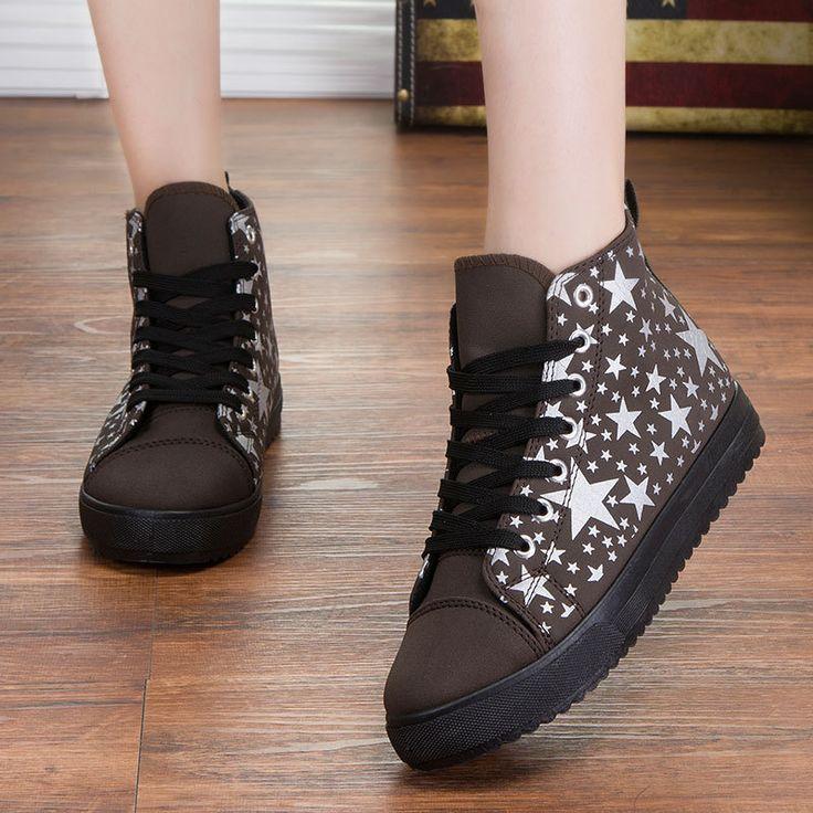 Best-selling-Winter-New-Fashion-High-cut-Women-Sneakers-Nubuck-Leather-Stars-Warm-Platform-shoes #www.aliexpress.com