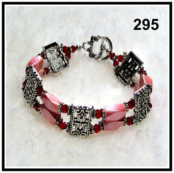 Hot Pink Mag. Hematite Tibetan Silver & by CrystalsAndLight, $10.00
