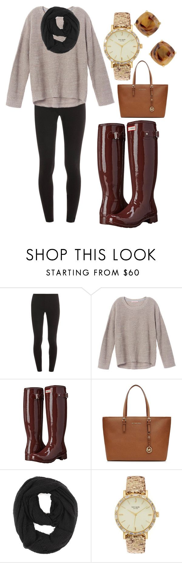 """I just hurt my back so bad!//read d"" by emmacaseyyyy ❤ liked on Polyvore featuring Splendid, Victoria's Secret, Hunter, MICHAEL Michael Kors, Paula Bianco and Kate Spade"