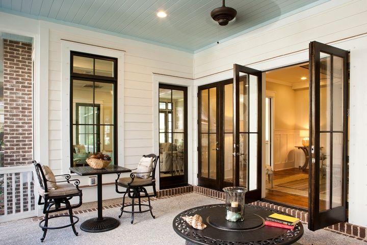 Traditional Porch with Andersen Windows & Doors 400 Series Frenchwood Hinged Patio Door, French doors, exterior brick floors