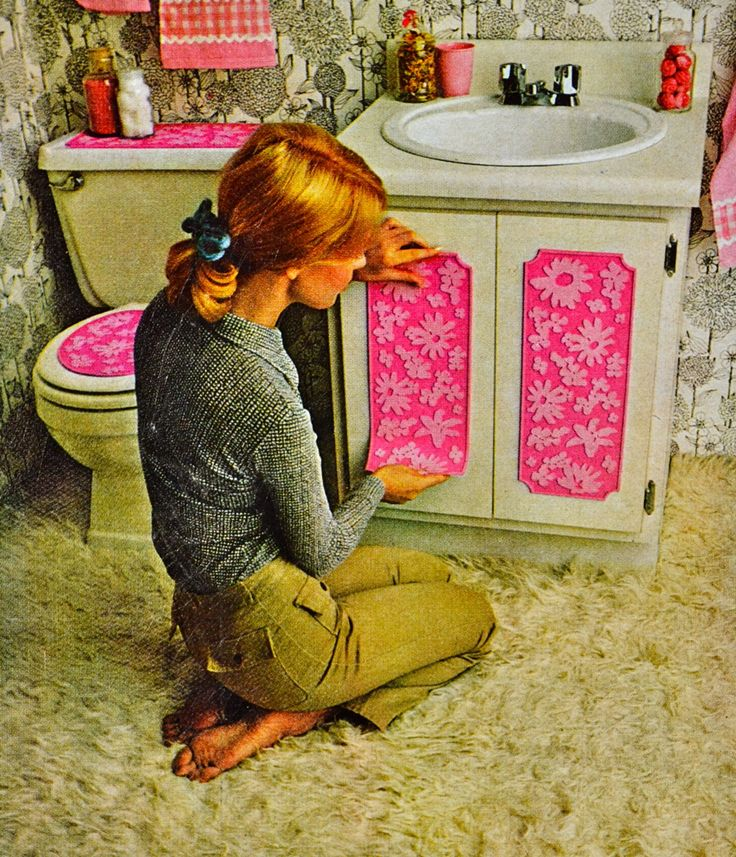 Better Homes And Gardens Dated 1970 To Carpeted Bathroom Groovy Panels For Sink