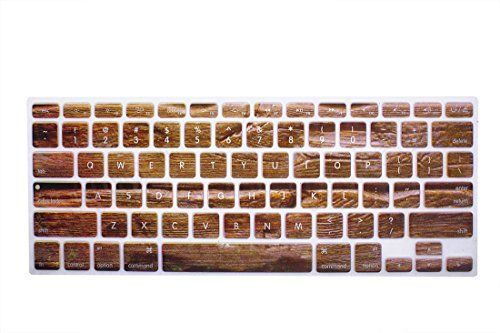 YYubao Super Stretchy Silicone Keyboard Cover Skin Protector for MacBook Pro 13 15 17 (with or without Retina Display) MacBook Air 13 and iMac (Fits US Keyboard Layout only) - Tree Bark Color