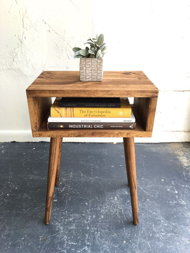 Pair of Mid Century Modern End Table, End Table, Modern End Table, Wood end table, Living room Furniture, Mid century by GroveAndAnchor on Etsy https://www.etsy.com/listing/272759656/pair-of-mid-century-modern-end-table-end