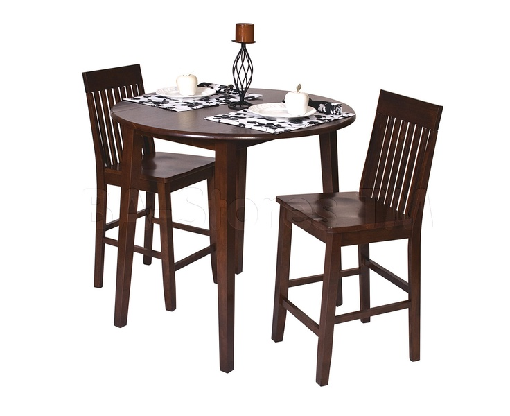 Office Star OSP Designs Westbrook Three Piece Pub Set, Espresso   Home  Furniture Showroom