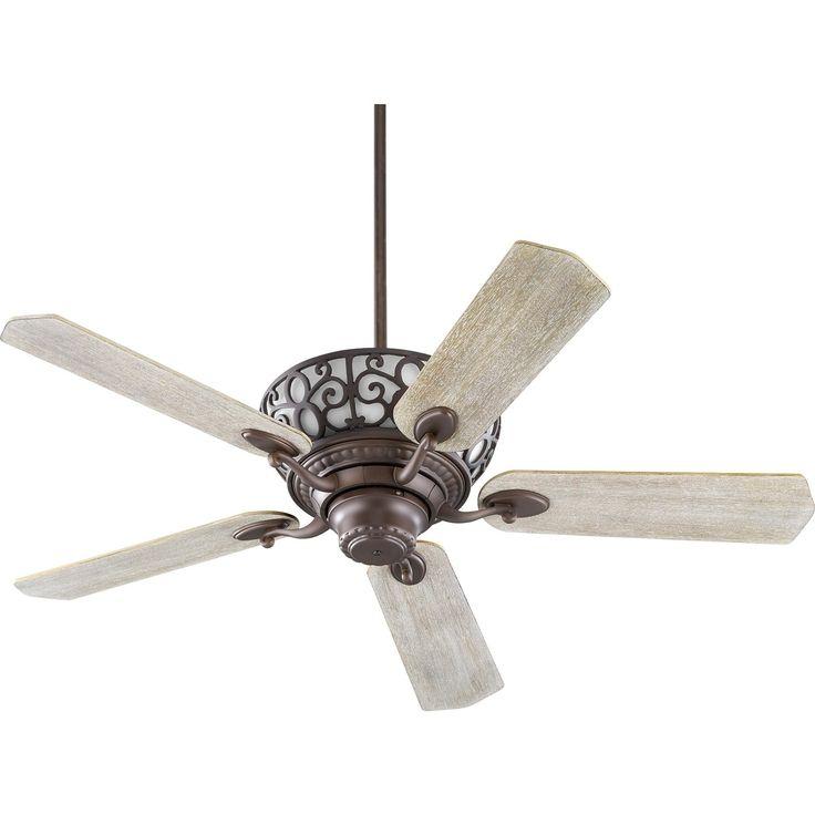 International Cimarron 52 Transitional Ceiling Fan with Integraded Uplight Light Kit (walnut/weathered oak blades/oiled bronze)