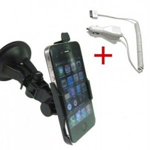 iPhone 4 Auto Bundle (Autohalterung Saugnapf und Autoladegerät) bei www.StyleMyPhone.de