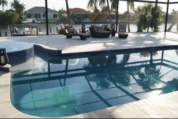 Rent this gorgeous Cape Coral Villa . The Very Best of Cape Coral Luxury in Florida, just imagine sipping an evening beverage on this deck! #stayfeefree #tripelli #travel (scheduled via http://www.tailwindapp.com?utm_source=pinterest&utm_medium=twpin)
