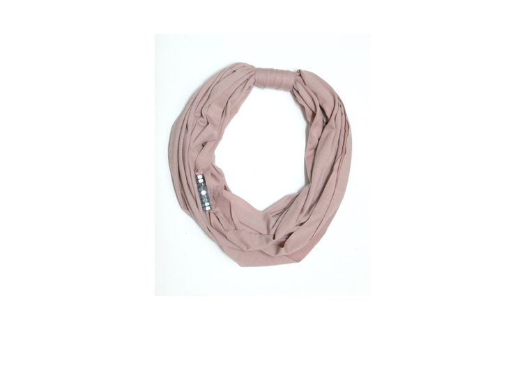 Light pink fabric necklace scarf with silver screw nuts, unique light pink necklace, short scarf, fabric accessories, fabric jewelry by Mandalijewelry on Etsy https://www.etsy.com/listing/258177364/light-pink-fabric-necklace-scarf-with