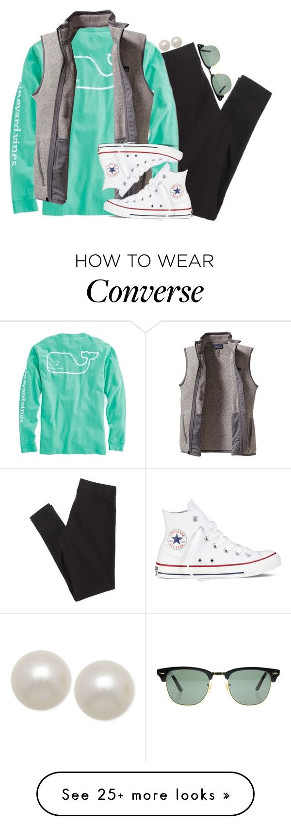 """""""how to be a prep in the fall/winter pt. 2"""" by smbprep on Polyvore featuring American Eagle Outfitters, Vineyard Vines, Patagonia, Converse, Honora and Ray-Ban"""