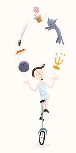 Circus juggler by Marloes de Vries