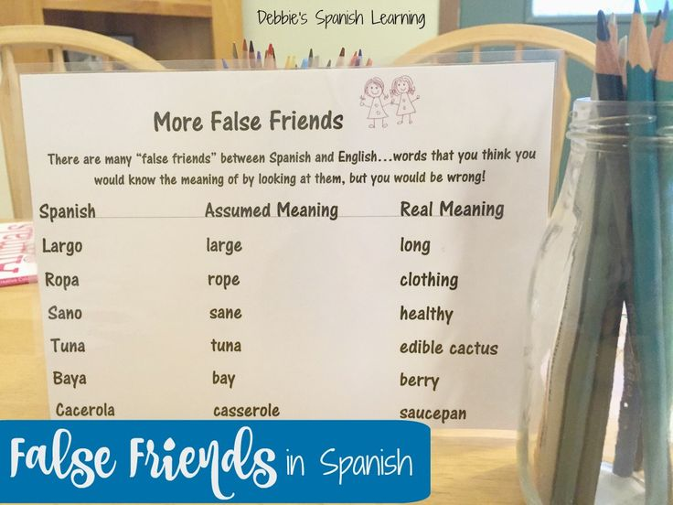 False Cognates in Language Learning- How they can increase ...