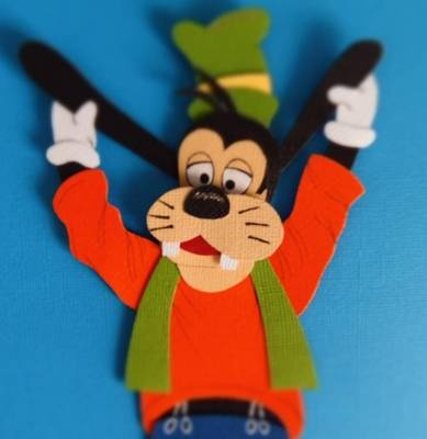 Disney Goofy, Paper Piece Set, Scrapbooking, Handmade, Album, Boy, Disney World, Disney Land