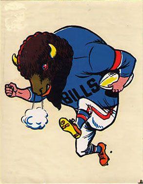 Vintage 1969 AFL/NFL Team Mascot Decal - Buffalo Bills