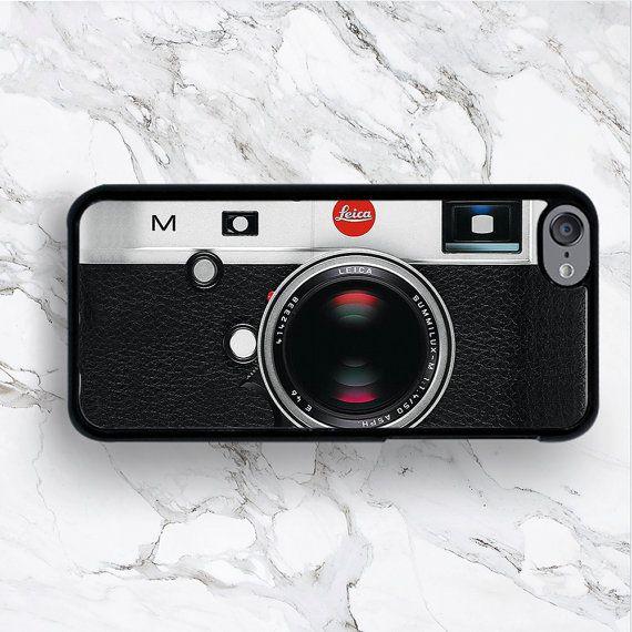 iPod Touch 6eme Gen Vintage étuis iPod Touch 6G iPod Leica Retro 6 couvertures, iTouch 5e génération 4 taies d'idée de cadeau pour le photographe