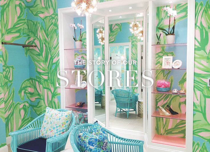 Image of Lilly Pulitzer Store mirror and display case