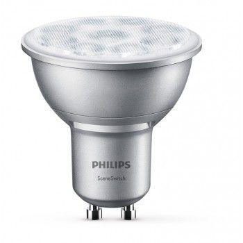 Philips LED SceneSwitch Leuchtmittel GU10 350lm, WW, 4,5W, 2,8W, 1,3W